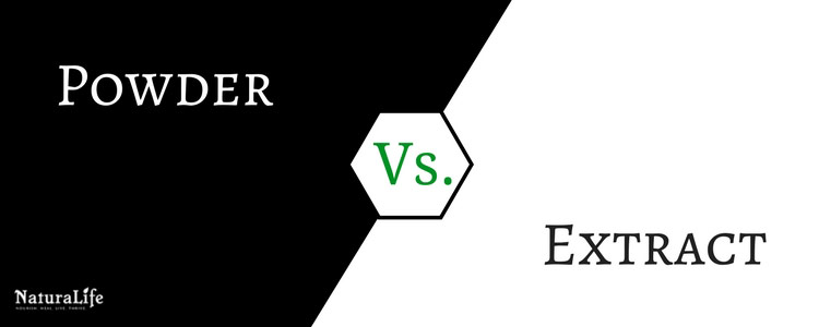 what is the difference between rhodiola powder versus rhodiola extract