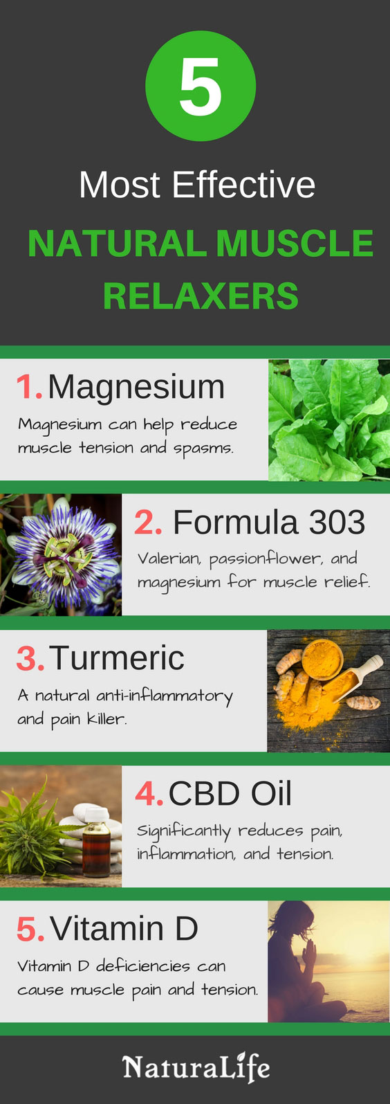 The Best Natural Muscle Relaxers Infographic