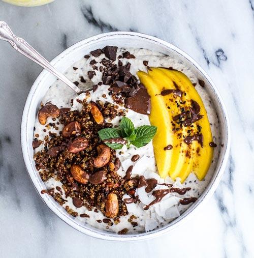 coconut banana oats smoothie bowl