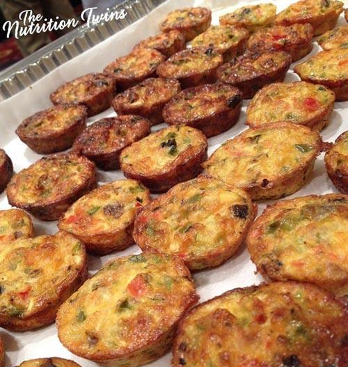 Breakfast fritatta bites with vegetables