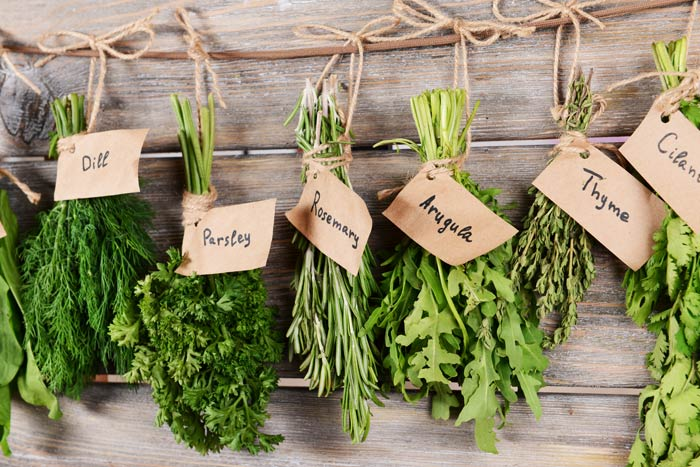 fresh herbs to upgrade a salad