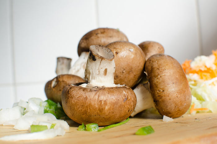 mushrooms for salad