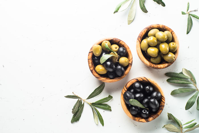 black and green olives for salad