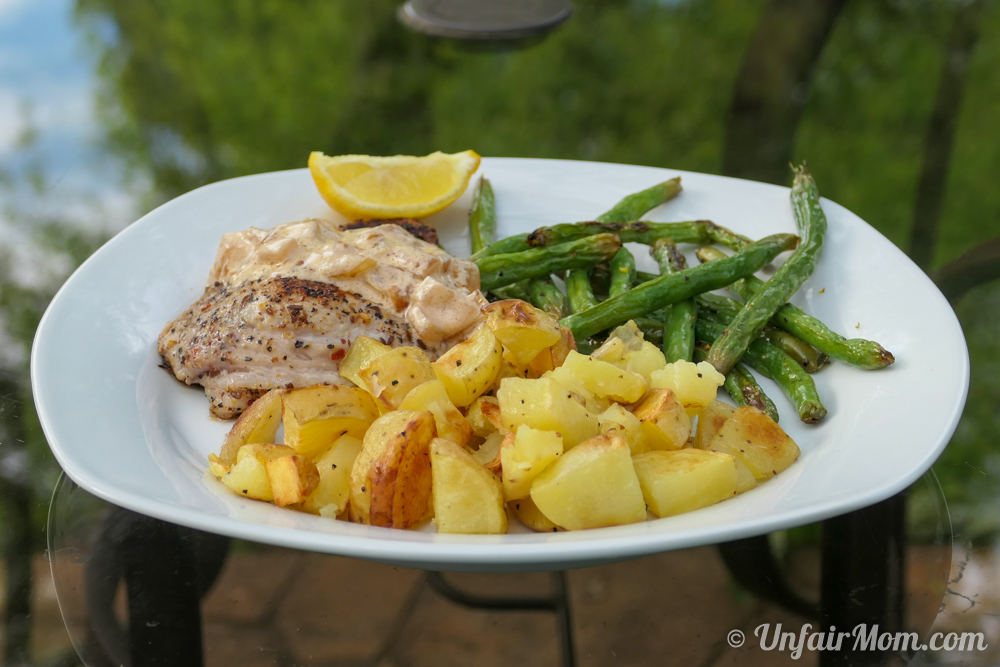 Hello Fresh Steakhouse Pork Chops with Roasted Potatoes and Green Beans