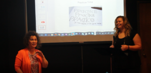 Monique Bagwell teaching voiceover