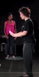 Monique Bagwell teaching ALBA step out