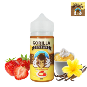 STRAWBERRY BY GORILLA CUSTARD – 100ML VAPE DUBAI