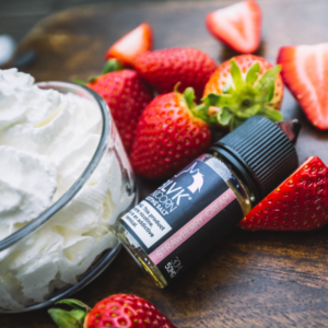 strawberry Cream by BLVK Unicorn Dubai ejuice Saltnic