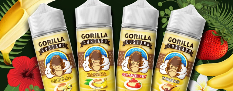 GORILLA CUSTARD – 100ML Ejuice Vape Dubai