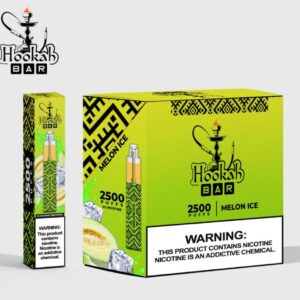MELON ICE BY HOOKAH BAR DISPOSABLE 2500 PUFFS / 50MG