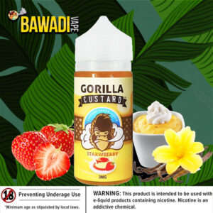 STRAWBERRY BY GORILLA CUSTARD – 100ML DUBAI VAPE
