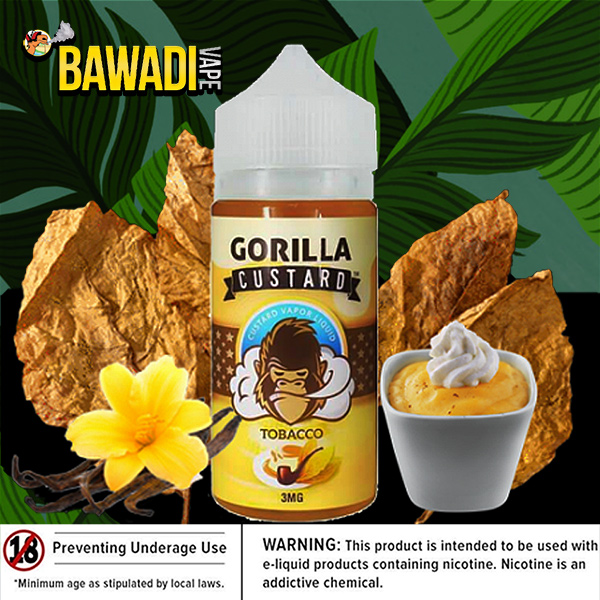 TOBACCO BY GORILLA CUSTARD – 100ML SHARJAH EJUICE VAPE