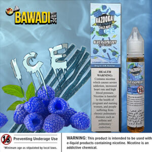 BLUE RASPBERRY ICE BY BAZOOKA NIC SALT