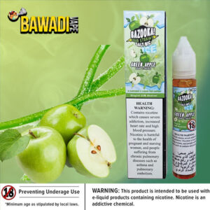 GREEN APPLE BY BAZOOKA NIC SALT
