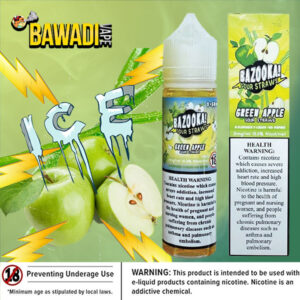 GREEN APPLE ICE BY BAZOOKA - 50ML