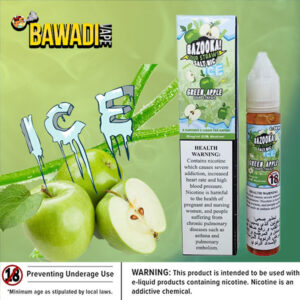 GREEN APPLE ICE BY BAZOOKA NIC SALT