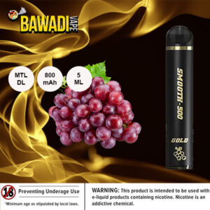RED GRAPE BY SMOOTH-500 GOLD - 1500 PUFFS