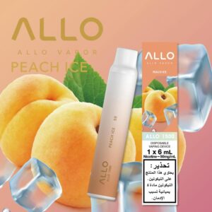 PEACH ICE BY ALLO DISPOSABLE 1500 PUFFS