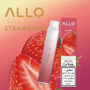 STRAWBERRY BY ALLO DISPOSABLE 1500 PUFFS