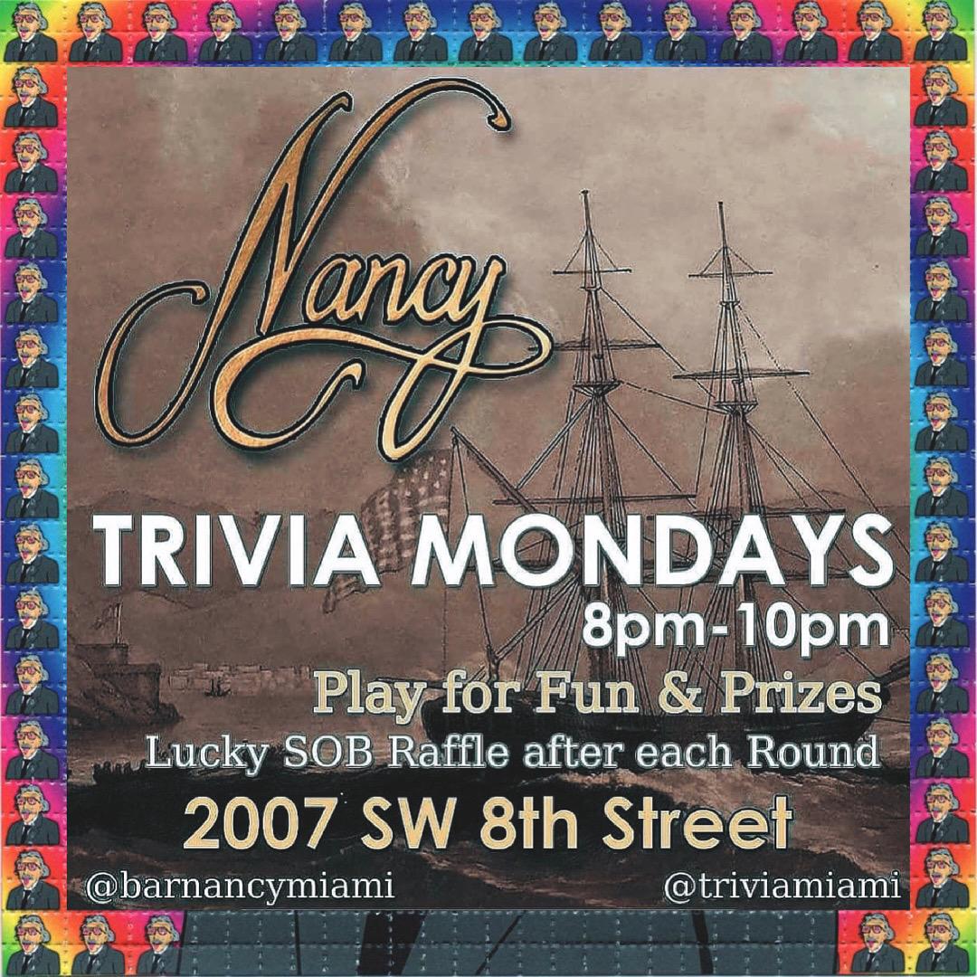 Trivia Mondays at Bar Nancy