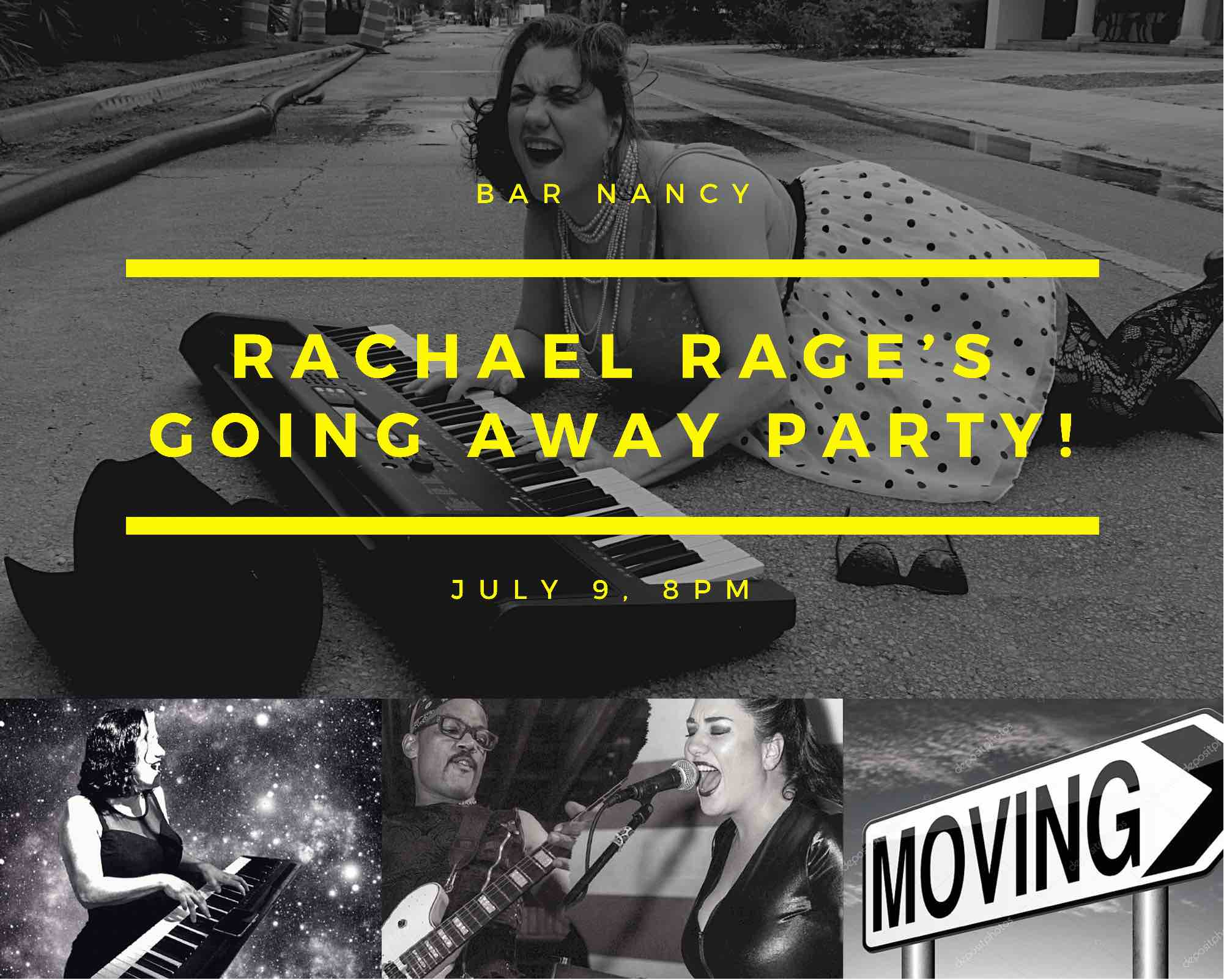Rachael Rage's Going away party at Bar Nancy - July 9th