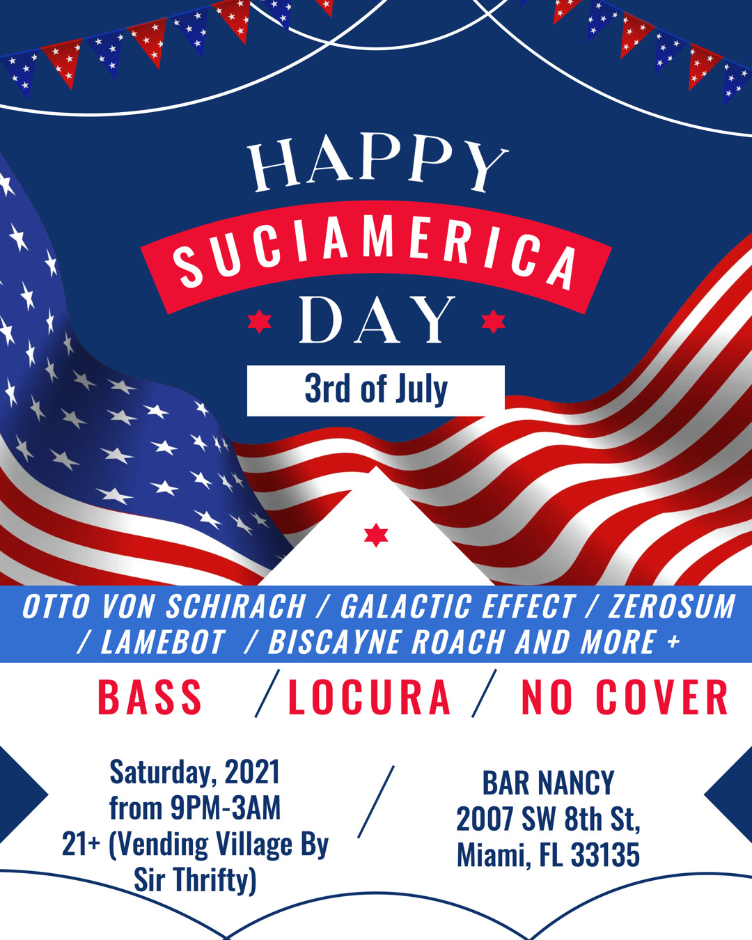 Happy Suciamerica Day - 3rd of July at Bar Nancy
