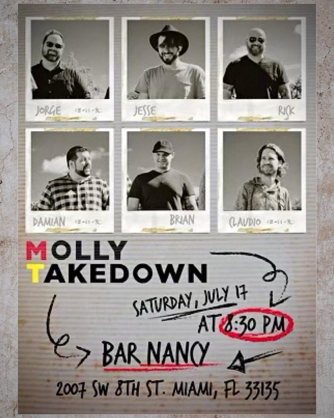 Molly Takedown at Bar Nancy Sat. July 17 at 8:30PM