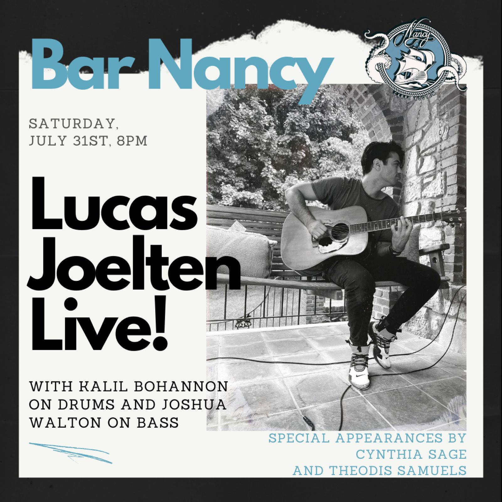 Lucas Joelten Live at Bar Nancy - July 31 at 8PM