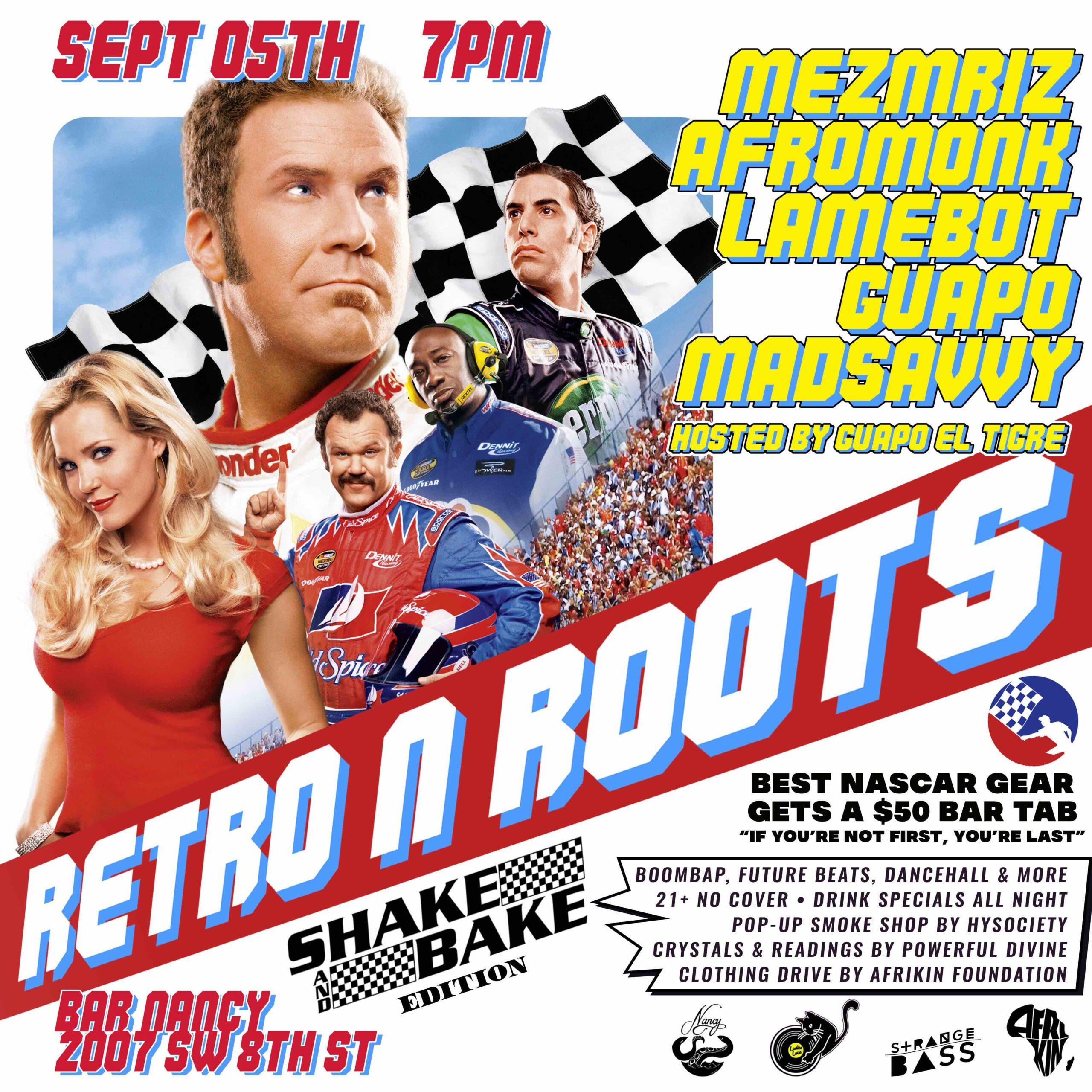 RETRO & ROOTS - MEZMRIZ - AFROMONK - LAMEBOT - GUAPO - MADSAVVY - @ BAR NANCY SEP 5TH