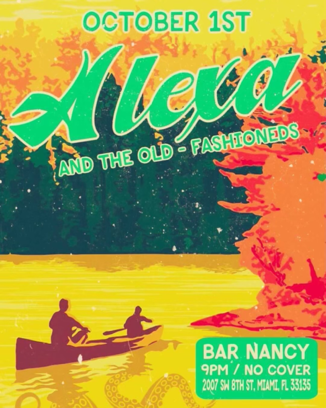 Alexa and The Old-Fashioneds at Bar Nancy - October 1st at 9PM