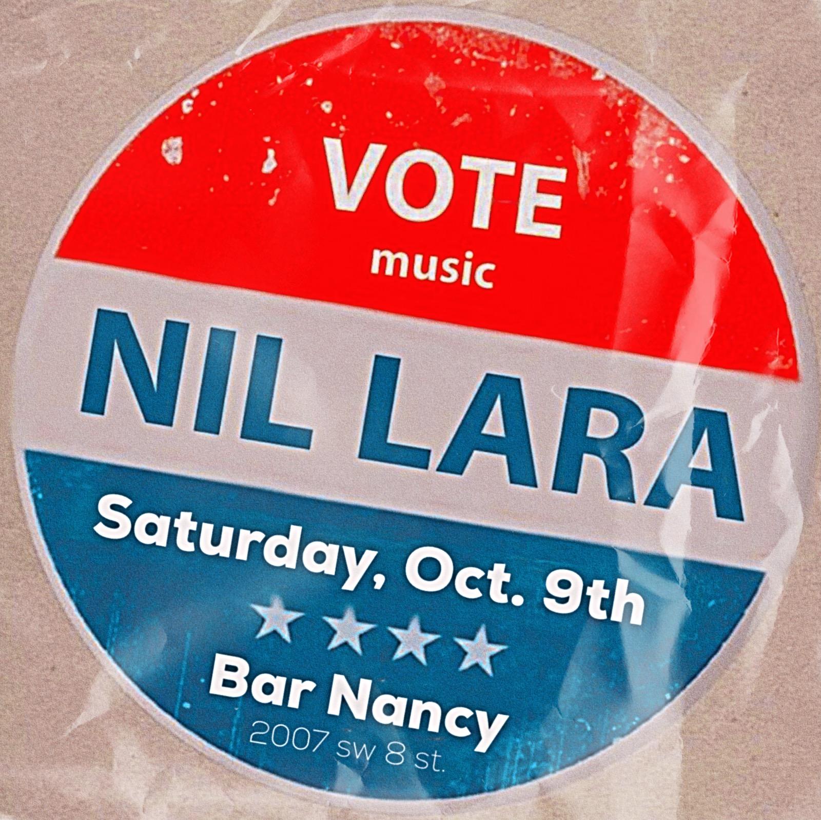 Nil Lara at Bar Nancy - October 9th - 8PM