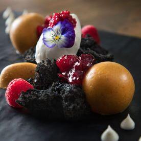 JEC - Chocolate Soil, Pumpkin Chibouste, Raspberry Caviar