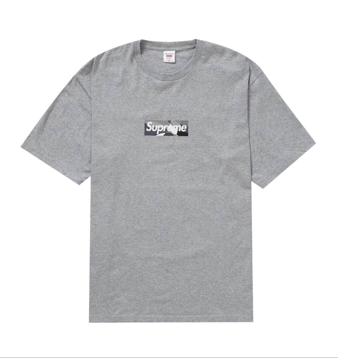 Supreme Emilio Pucci Box Logo Tee Grey Size M