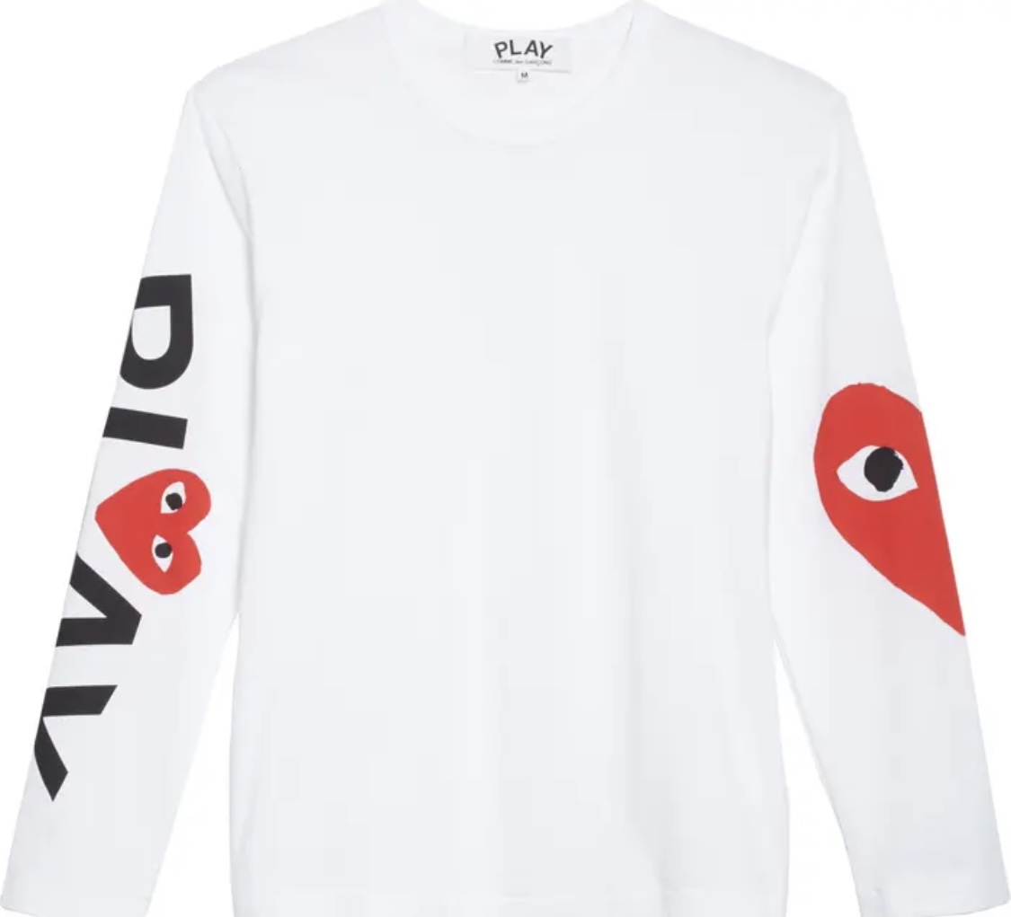 Comme des Garcon CDG Long Sleeve Tee White Size L