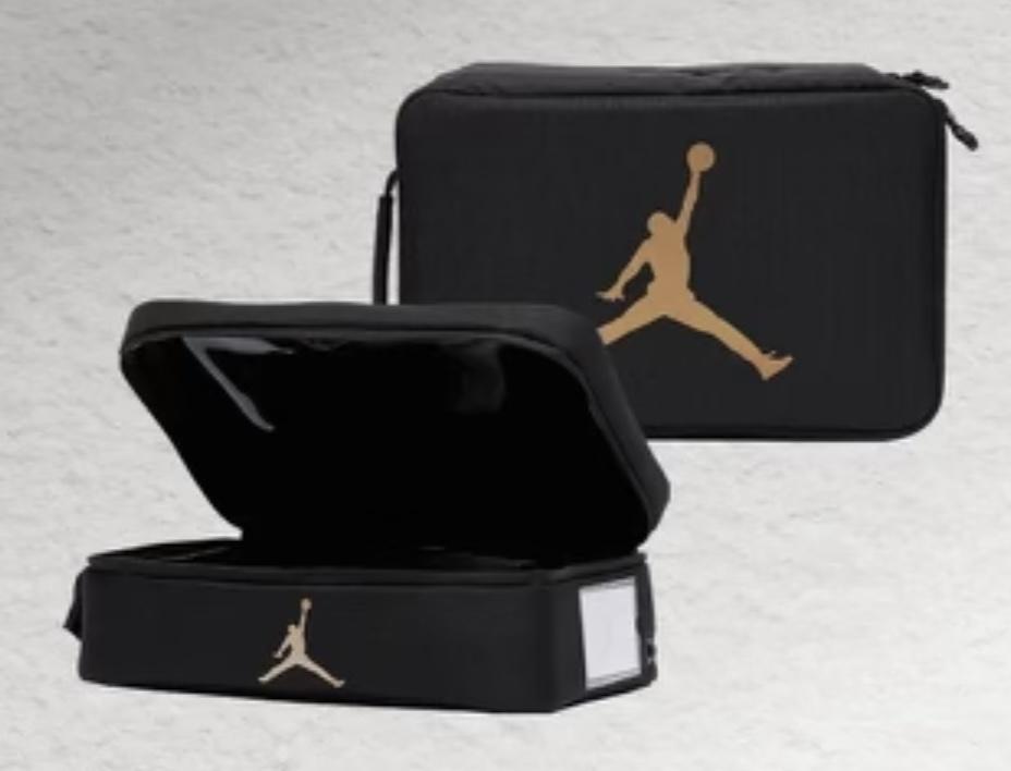 Jordan Shoebox Bag Black Gold