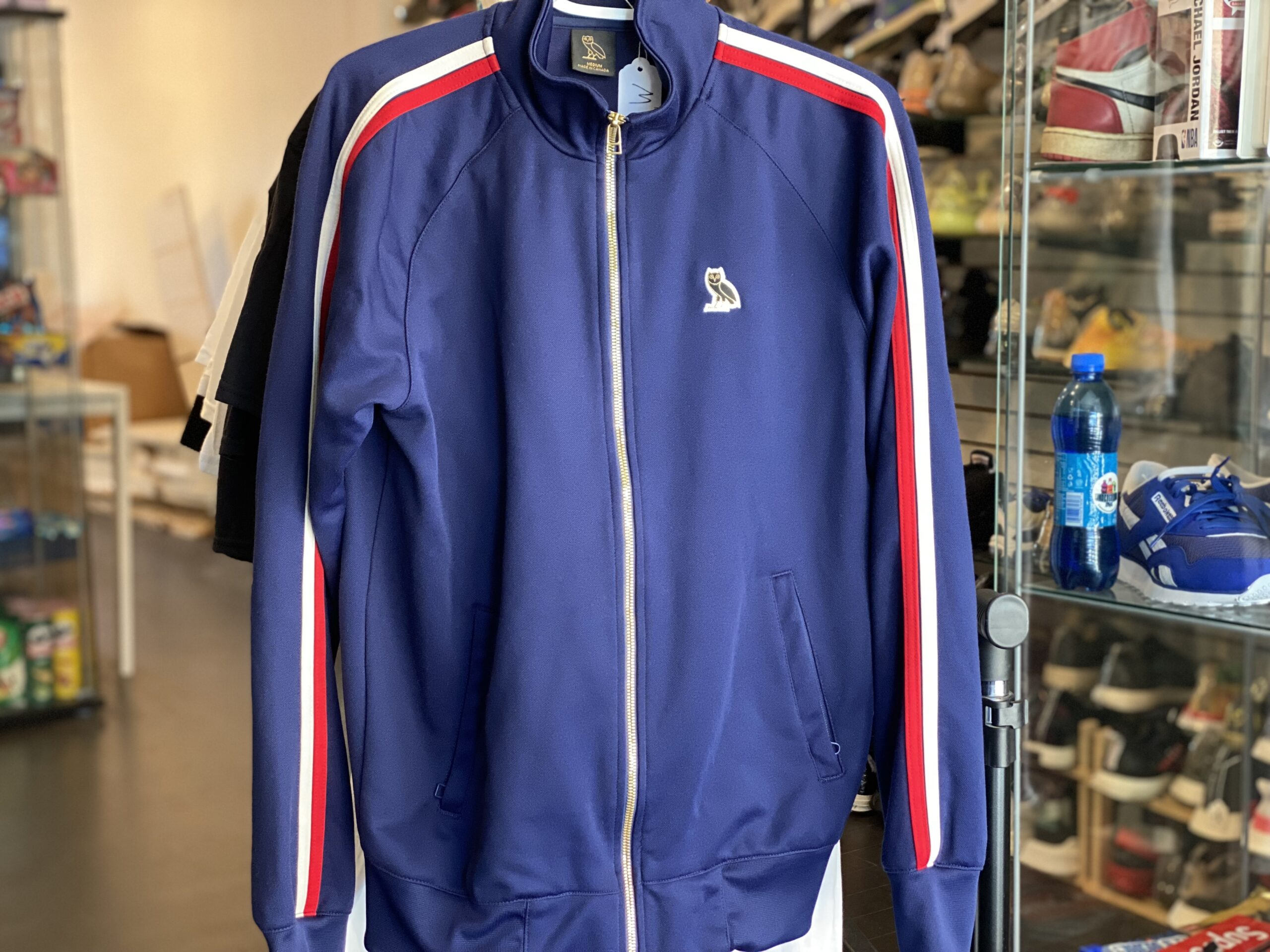 Preowned October's Very Own OVO Zip Up Track Jacket Blue Size M