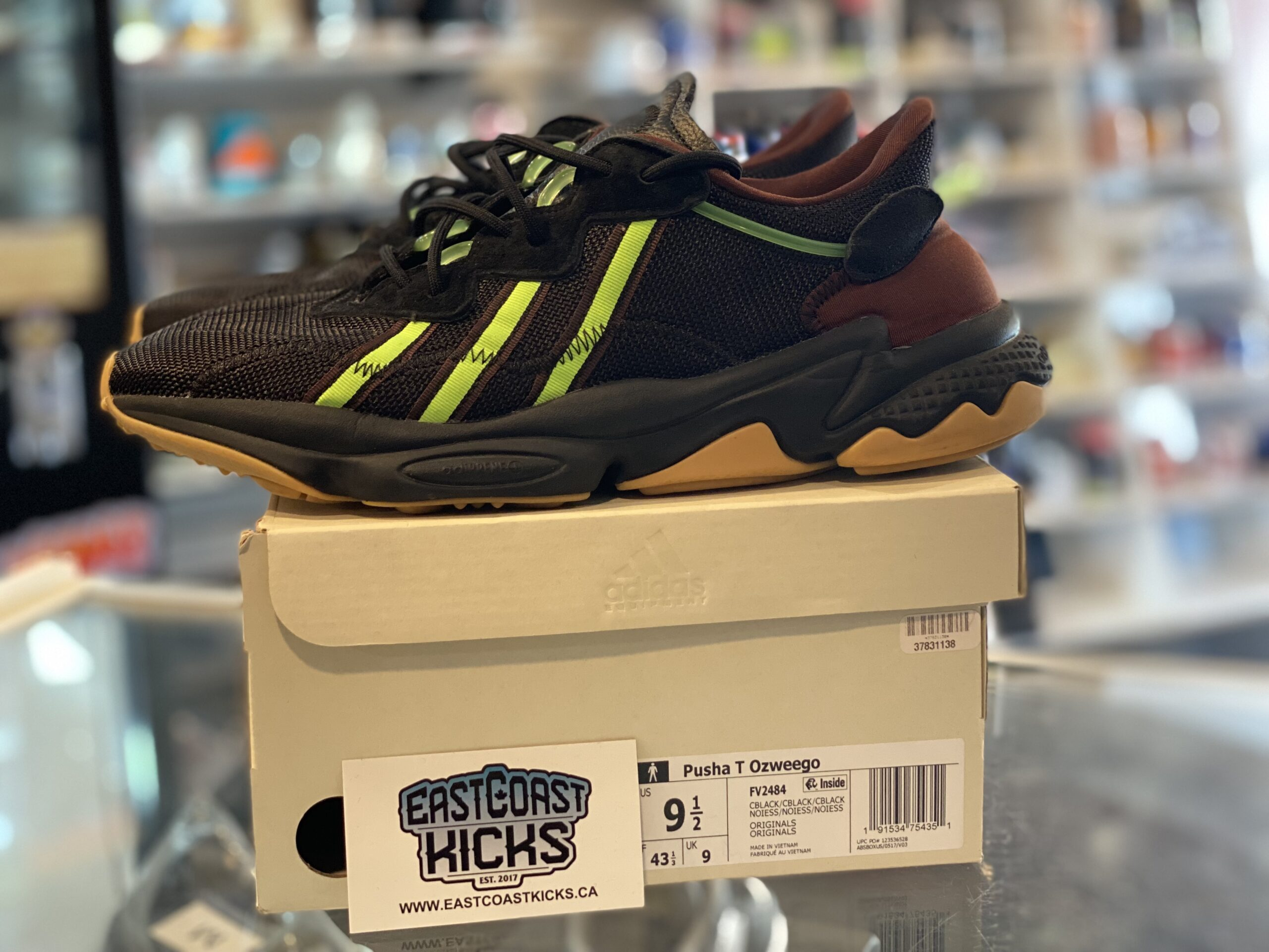 Preowned Adidas Ozweego Pusha T Mystery Brown Size 9.5
