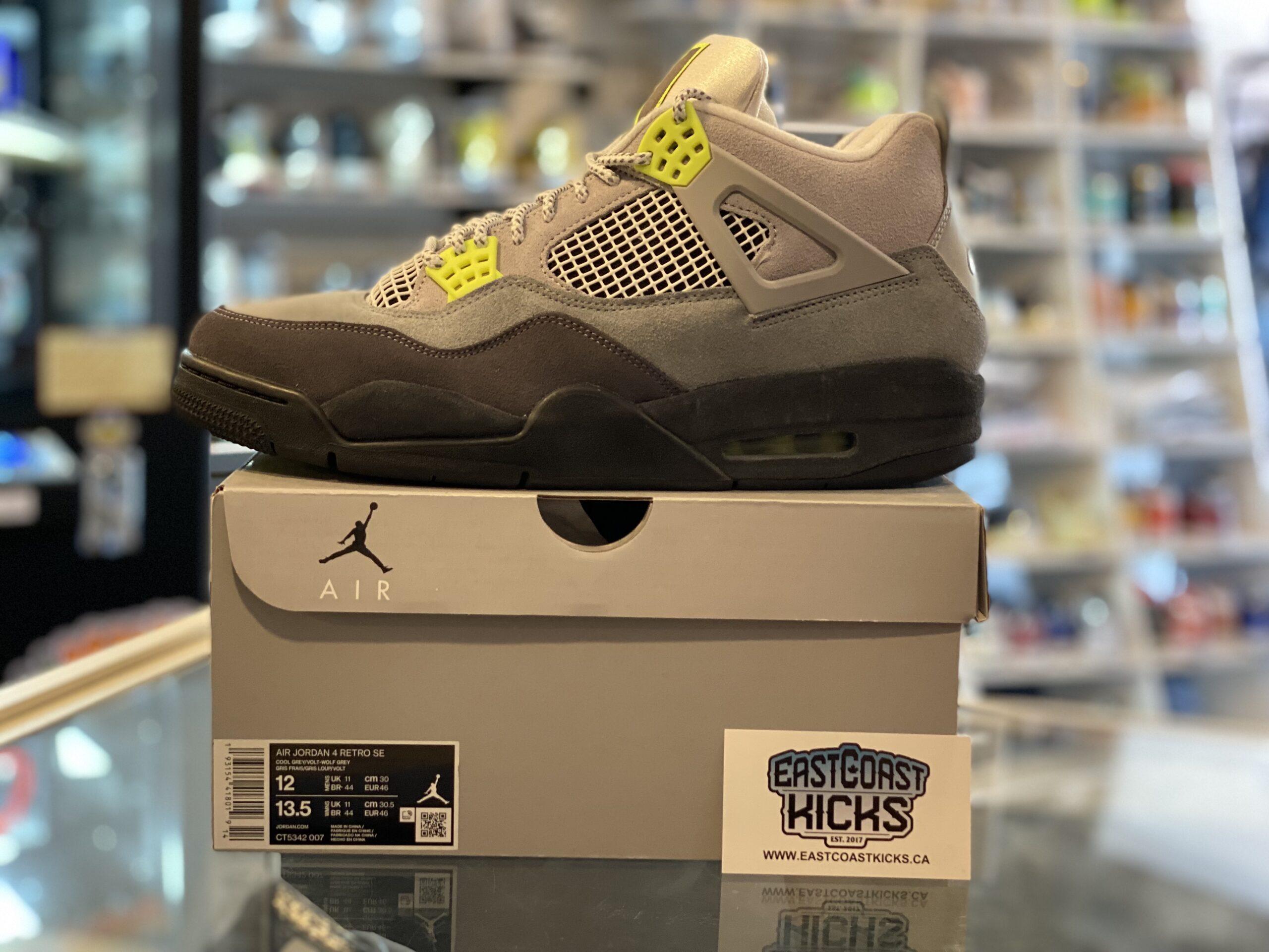 Preowned Jordan 4 Neon 95 Size 12