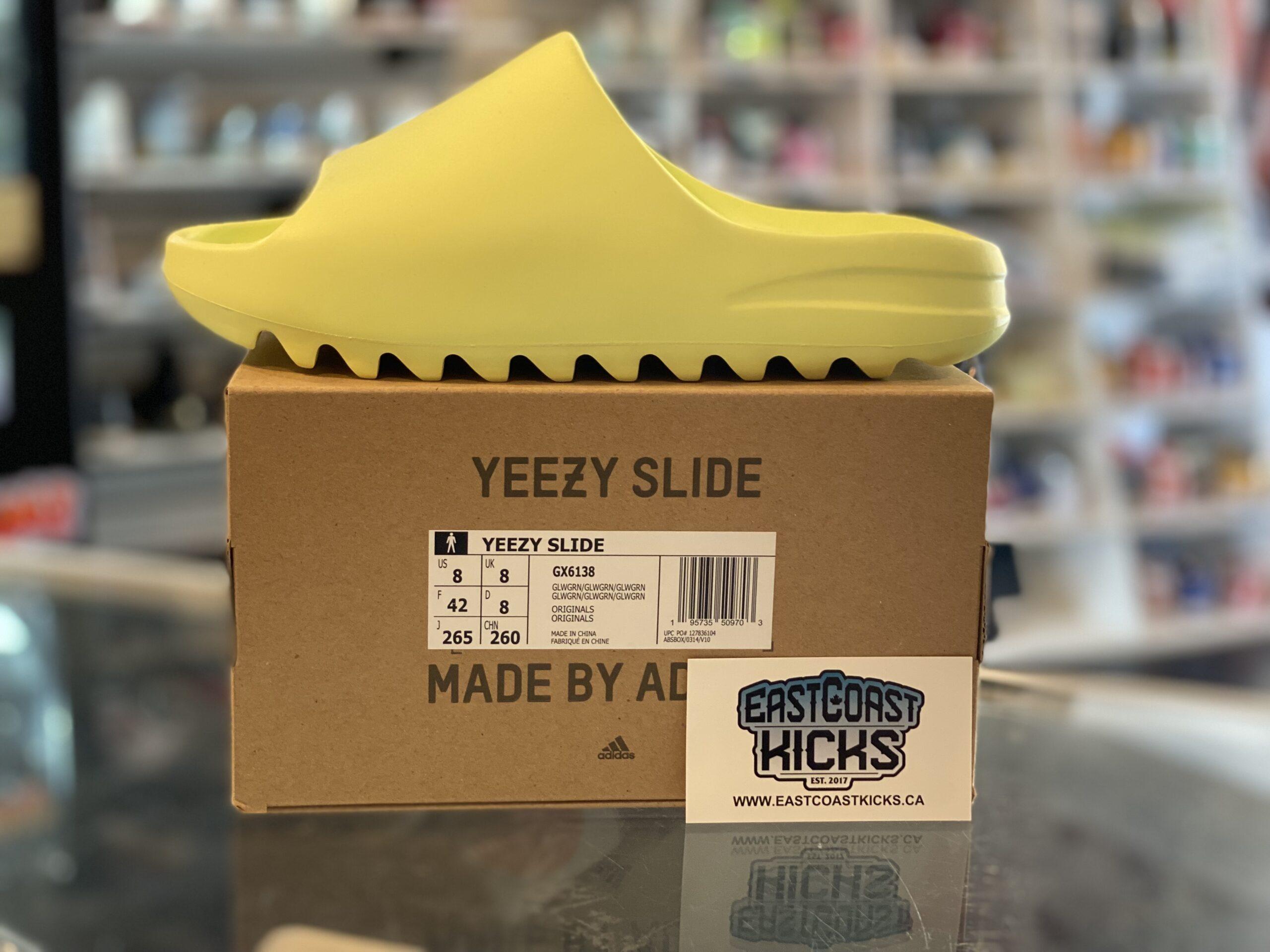 Adidas Yeezy Slide Glow Green Size 8