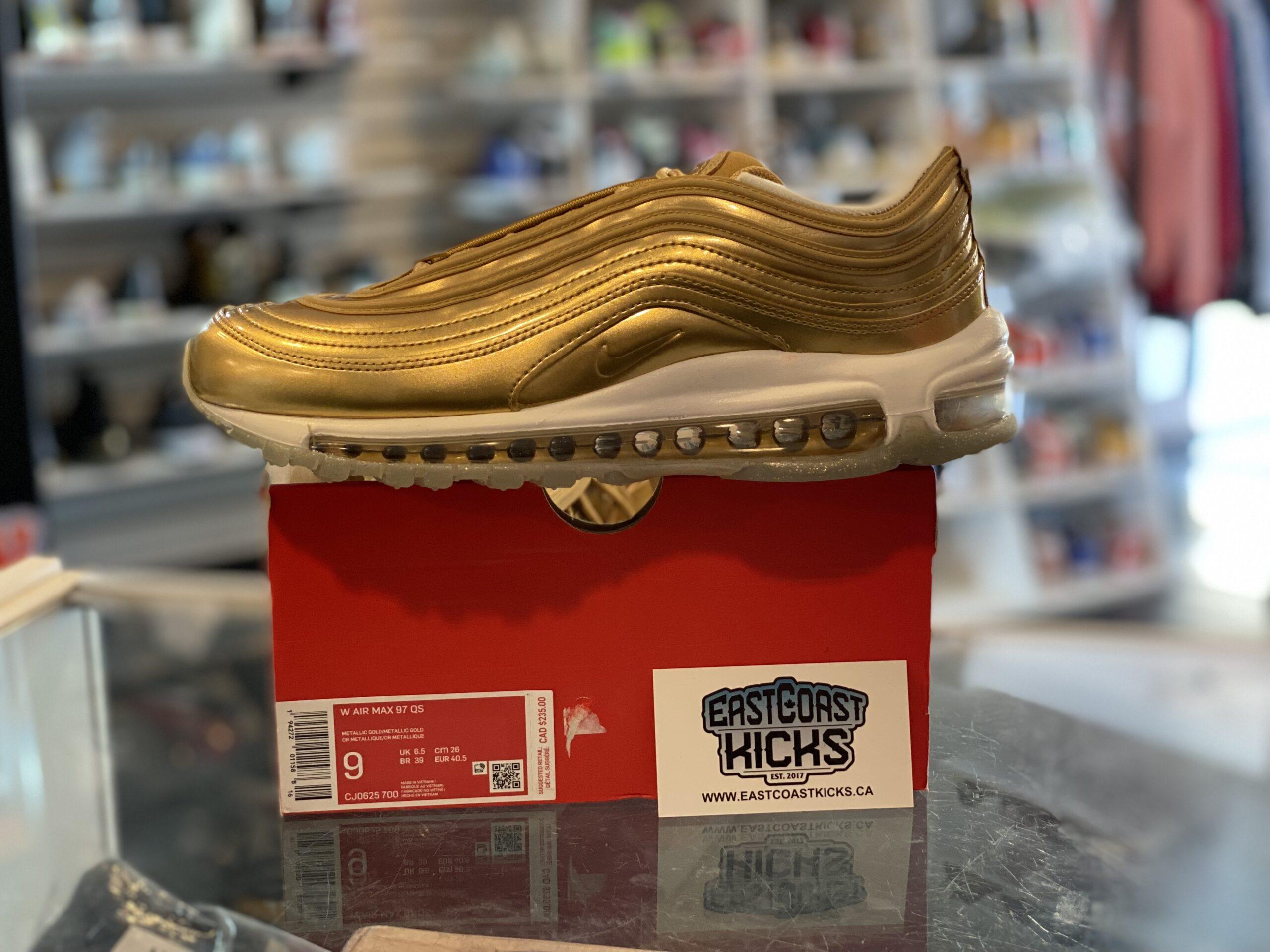 Nike Air Max 97 Gold Size 9W/7.5M