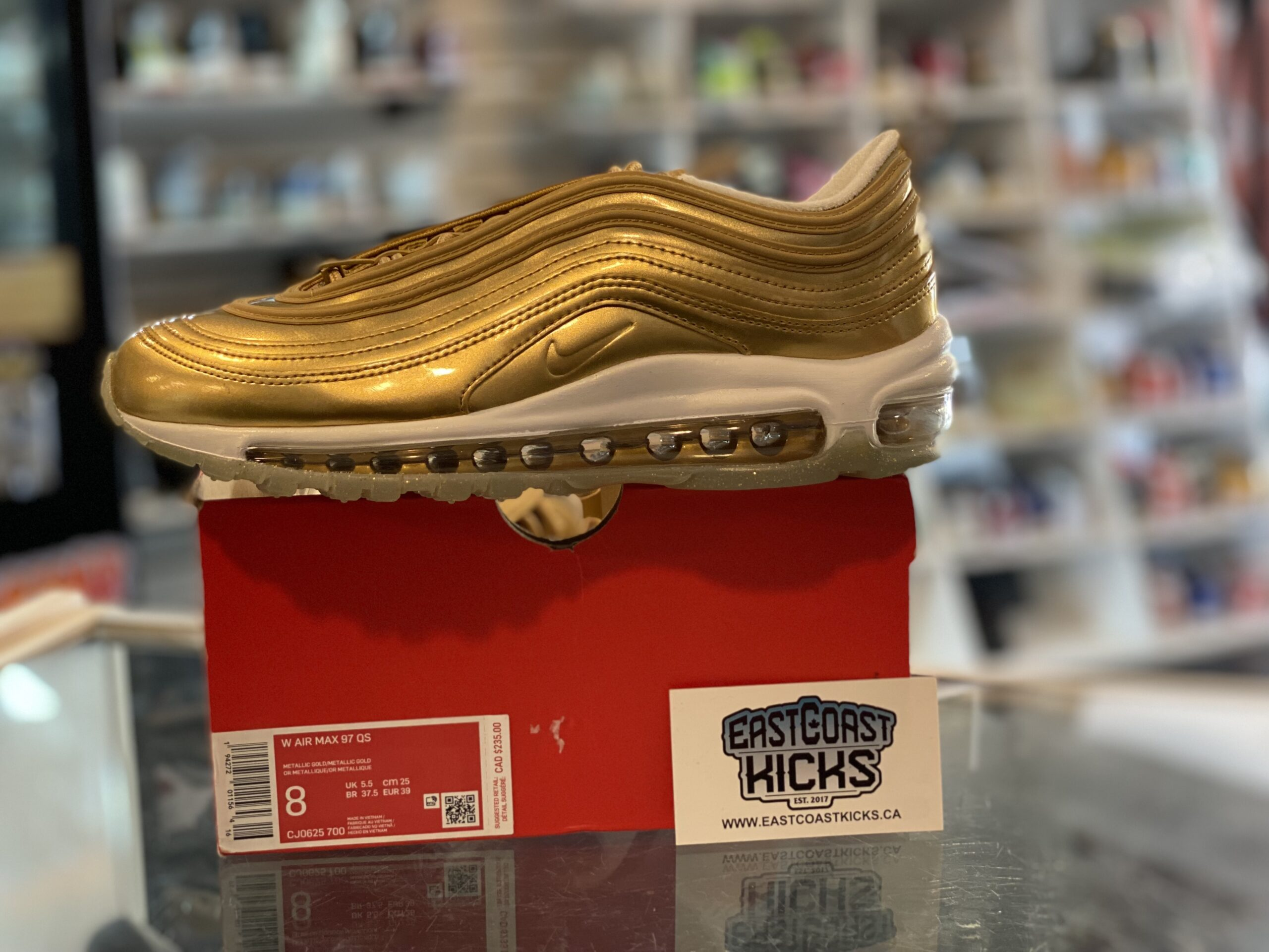 Nike Air Max 97 Gold Size 8W/6.5Y