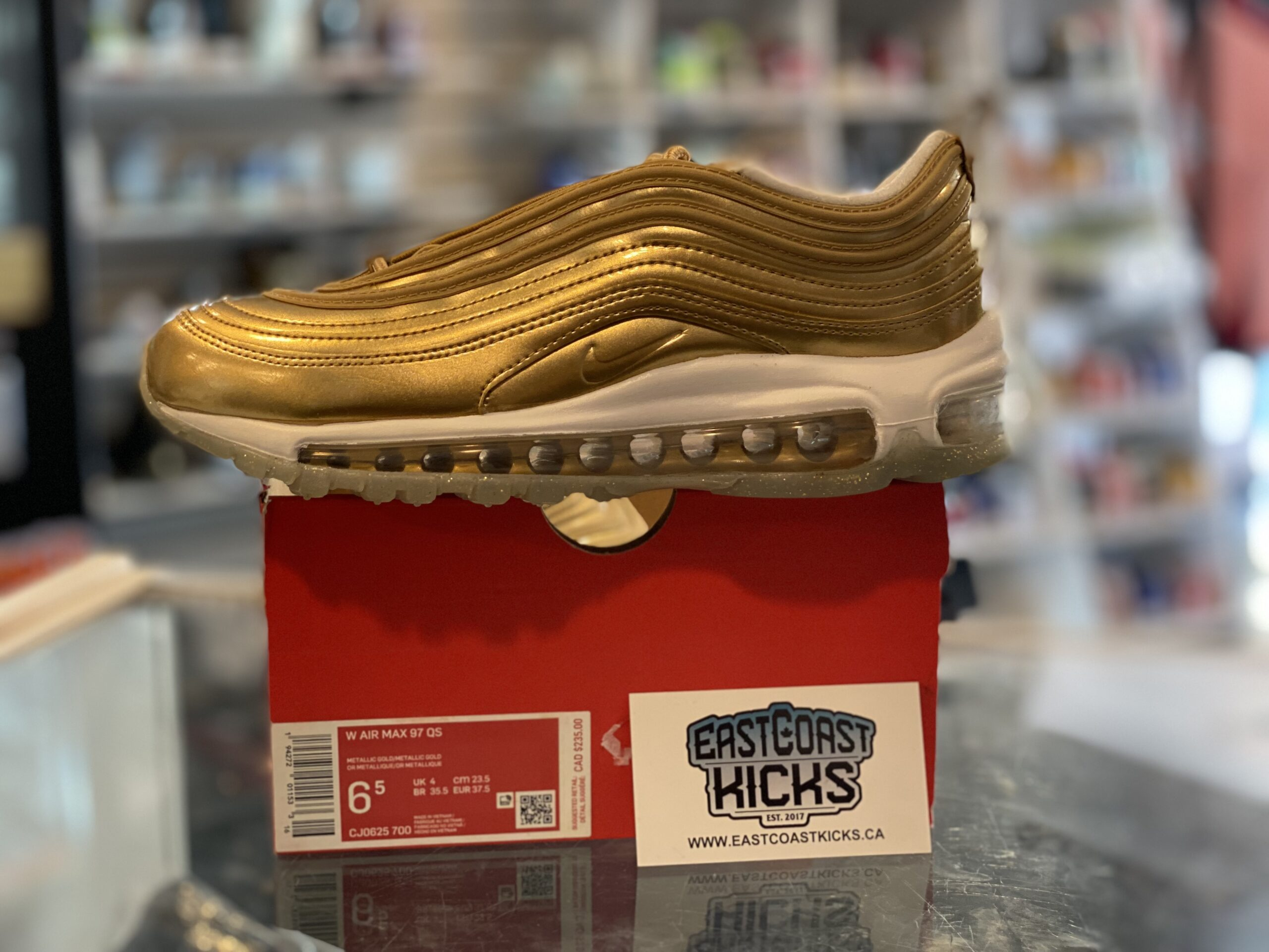 Nike Air Max 97 Gold Size 6.5W/5Y