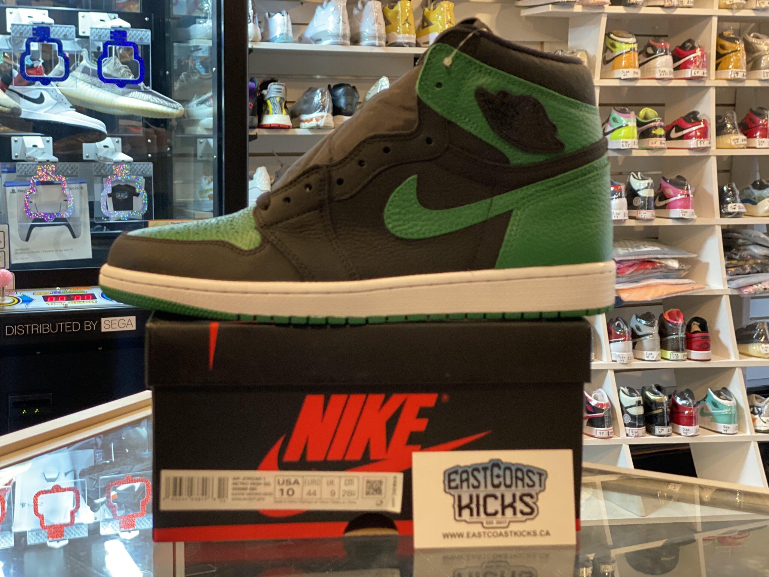 Jordan 1 High Pine Green Black Size 10