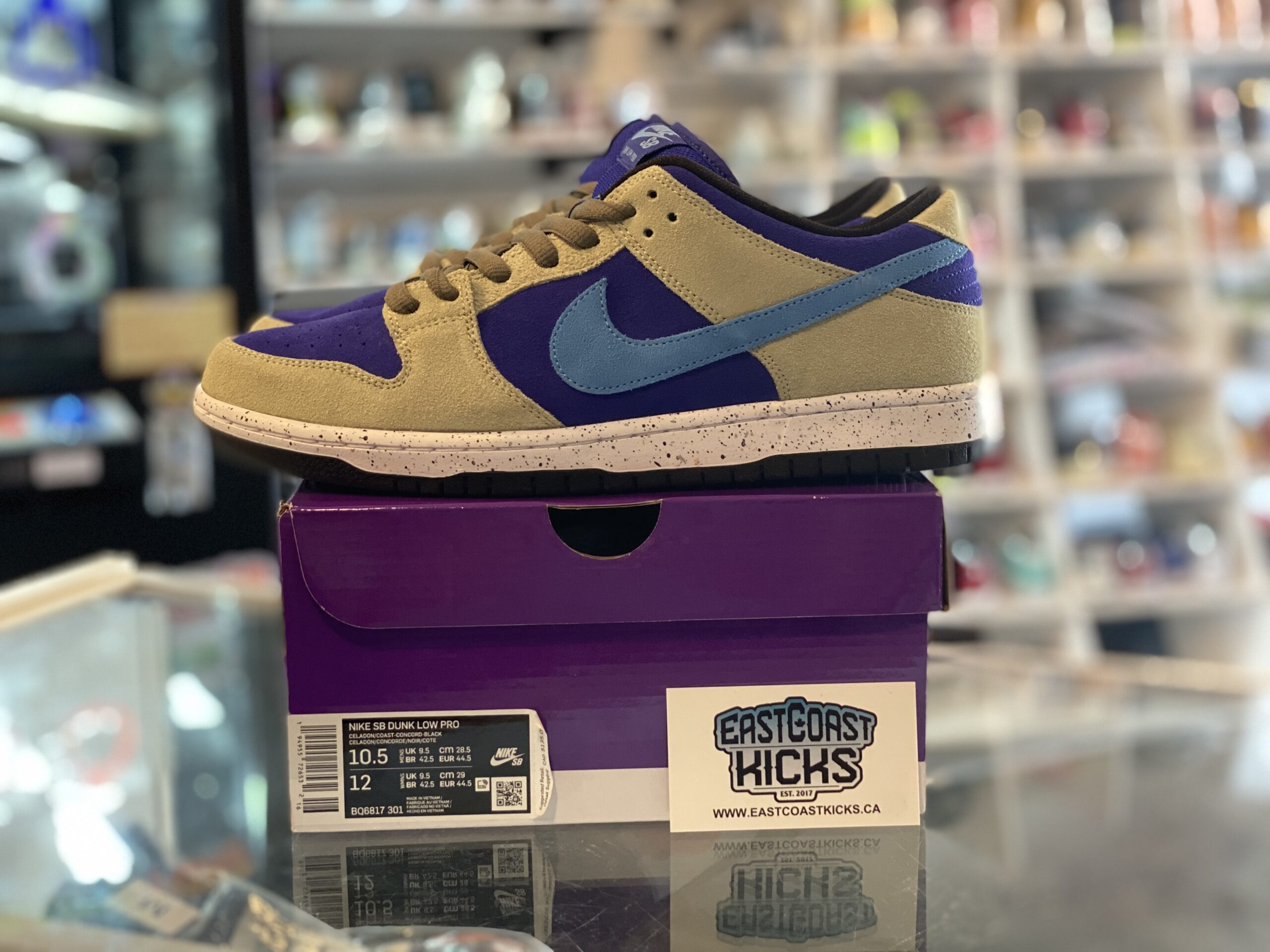 Preowned Nike SB Dunk Celadon Size 10.5