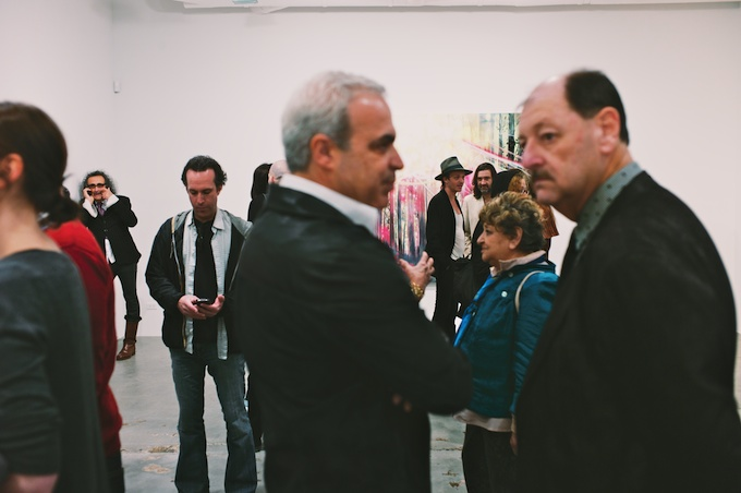 Art Aficionados flock to Mike Weiss Gallery for Kim Dorland opening