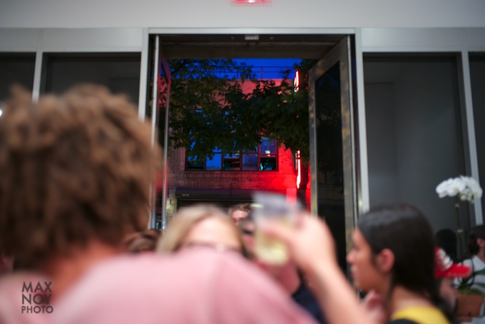 The packed doors at Cheim & Read on a Thursday Art Night