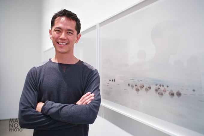Artist Sze Tsung Leong at Yossi Milo Gallery during his opening