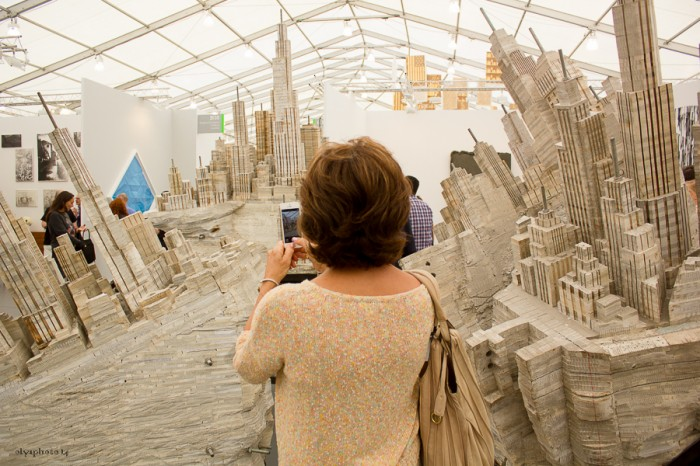 In a twisted City of Art at Frieze photo by Olya Turcihin