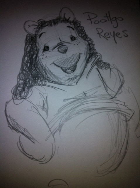 Poohgo Reyes. Or, Purhley? Disney and LOST mashup.