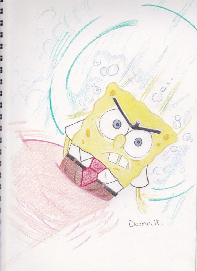 Spongebob Squarepants in his practical state.